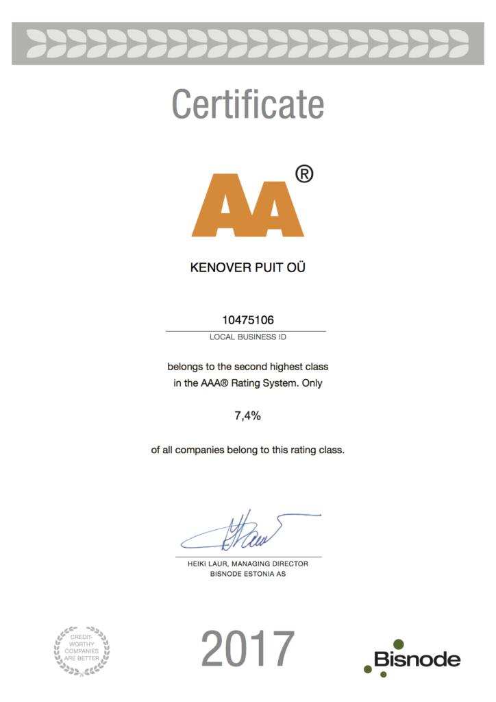 Kenover Puit credit raiting